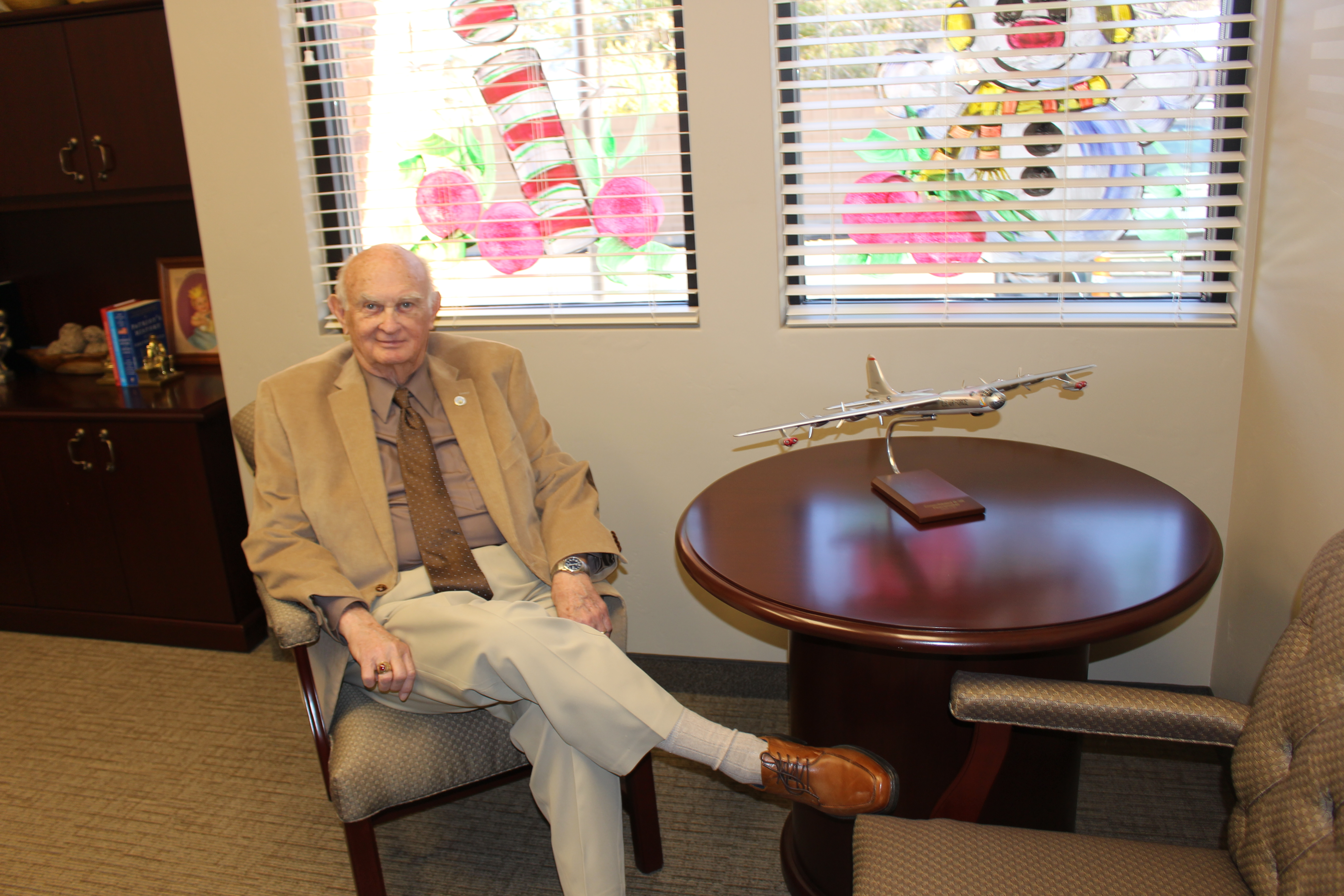 Mayor Donald Landes sits in his office in the new city office building, Parowan, Utah, Nov. 20, 2015 | Photo by Emily Hammer, St. George News