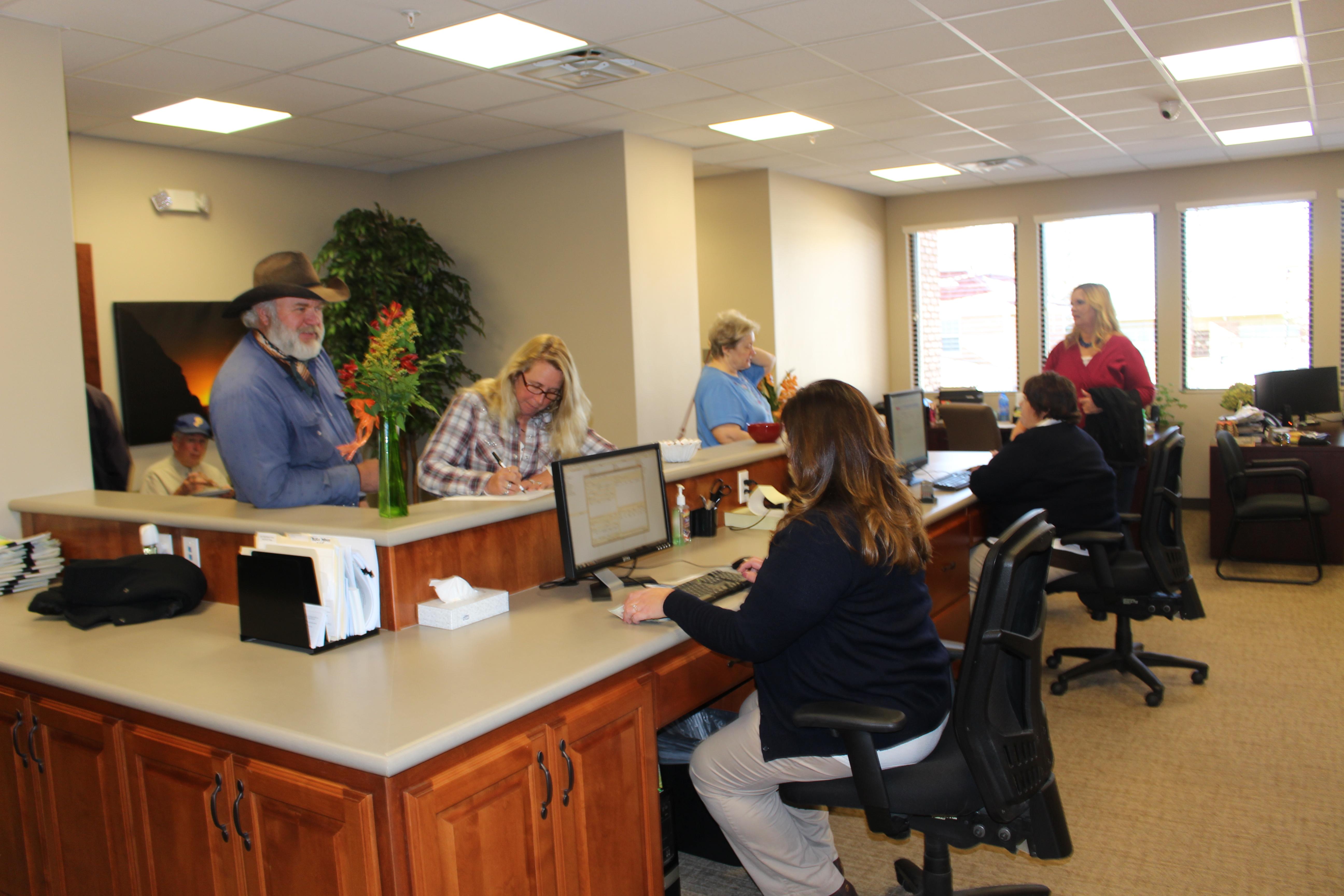 People walk through the new city offices, Parowan, Utah, Nov. 20, 2015 | Photo by Emily Hammer, St. George News
