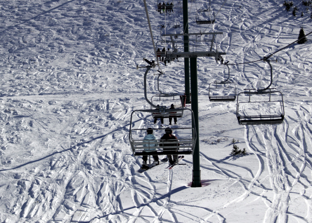 Heading up to the summit of the Giant Steps Express, Brian Head Resort, Brian Head, Utah, Nov. 21, 2015 | Photo by Carin Miller, St. George News