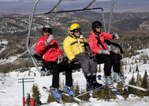 Skiers and boarders ride the lift to the top of the summit, Brian Head Resort, Brian Head, Utah, Nov. 21, 205 | Photo by Carin Miller, St. George News