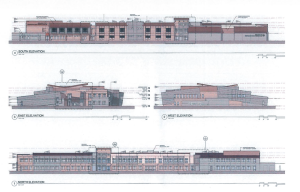 Elevations of the planned Rocky Vista medical school | Image courtesy of Ivins City, St. George News | Click on image to enlarge