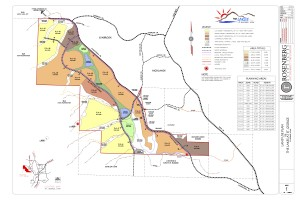 Master plan for The Lakes, a new development in the Green Valley Gap area | Image courtesy Mark Tupeen, St. George News
