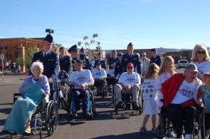 Staff and residents of the Southern Utah Veterans Home as well as members of the junior ROTC of Washington County and community members participate in the Veterans Day 5K and 1-mile race, Ivins, Utah, Nov. 8, 2014 | Photo by Hollie Reina, St. George News