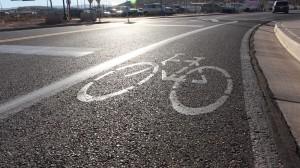 One of many designated bike lanes set alongside the road way in St. George, Utah, Nov. 24, 2015 | Photo by Mori Kessler, St. George News