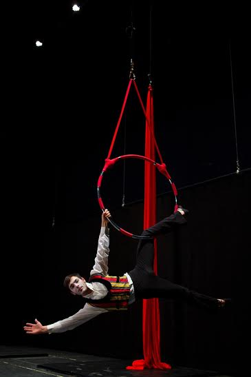 """A performer rehearses for """"Barnum,"""" St. George, Utah, date unspecified   Photo courtesy of Jyl Hall, St. George News"""