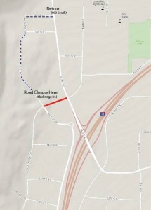 Alternate route for business access show above | Click to enlarge | Image courtesy of the City of St. George