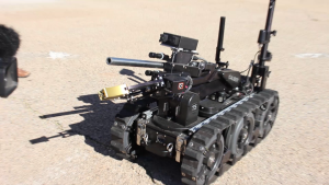 One of the remote-controlled robots used by the Washington County bomb squad, St. George, Utah, Nov. 12, 2015 | Photo by Mori Kessler, St. George News