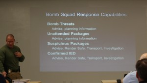 List detailing the capabilities of the Washington County bomb squad, St. George, Utah, Nov. 12, 2015 | Photo by Mori Kessler, St. George News
