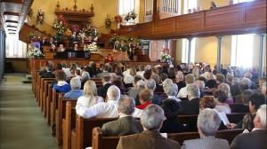 Former Mayor Karl Brooks' funeral attracted more than 200 people in the St. George Tabernacle, St. George, Utah, Nov. 7, 2015 | Photo by Ric Wayman, St. George News