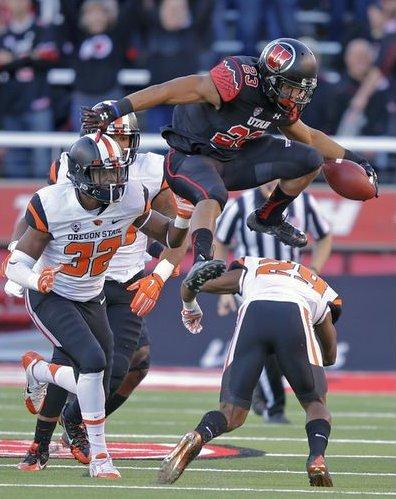 Dervontae Booker, Utah vs. Oregon, Salt Lake City, Utah, Oct. 31, 2015 | AP Photo