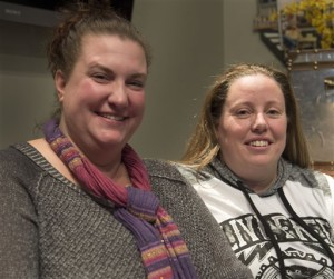 Foster parents April Hoagland and Beckie Peirce are photographed on Wednesday, Nov. 11, 2015 in Salt Lake City. A judge who ordered that a baby be taken away from April Hoagland and Beckie Peirce, her lesbian foster parents and placed with a heterosexual couple should follow the law and not inject his personal beliefs into the matter, Utah's Republican governor said Thursday, Nov. 12. (Steve Griffin/The Salt Lake Tribune via AP)