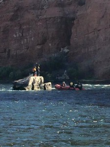 Local search and rescue teams participate in swift-water training at Lee's Ferry, Arizona, Nov. 20-21, 2015   Photo courtesy Santa Clara Fire Department, St. George News