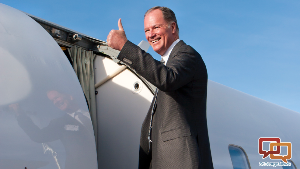 Jerry Atkin, chief executive officer of SkyWest Inc. Atkin's position will be succeeded by Chip Childs effective Jan. 1, 2016. Location and date not specified | Photo courtesy of SkyWest Inc., St. George News