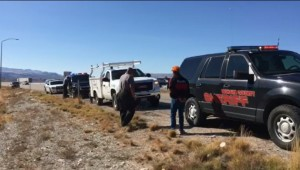Homero Duran Duran is detained by Mohave County Sheriff's deputies along Interstate 15 for allegedly stealing from a Littlefield, Arizona, repair shop, St. George, Utah, Nov. 11, 2015   Photo by Michael Durrant, St. George News