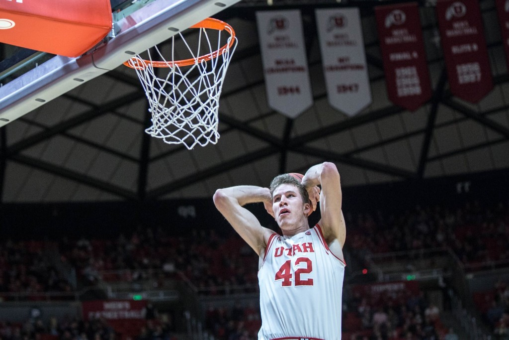 Pac-12 Conference Player of the Year Jakob Poeltl, file photo from Utah vs. Idaho State, Salt Lake City, Utah, Nov. 27, 2015 | Photo courtesy Utah Athletics