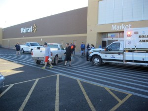An elderly woman was struck by a slow-moving truck in front of the Washington City Wal-Mart, Washington, Utah, Nov. 6, 2015 | Photo by Ric Wayman, St. George News