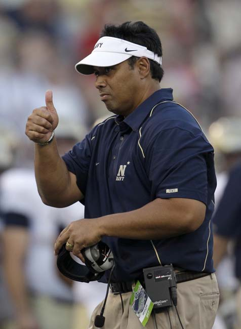 Navy coach Ken Niumatalolo (AP Photo/Rob Carr)