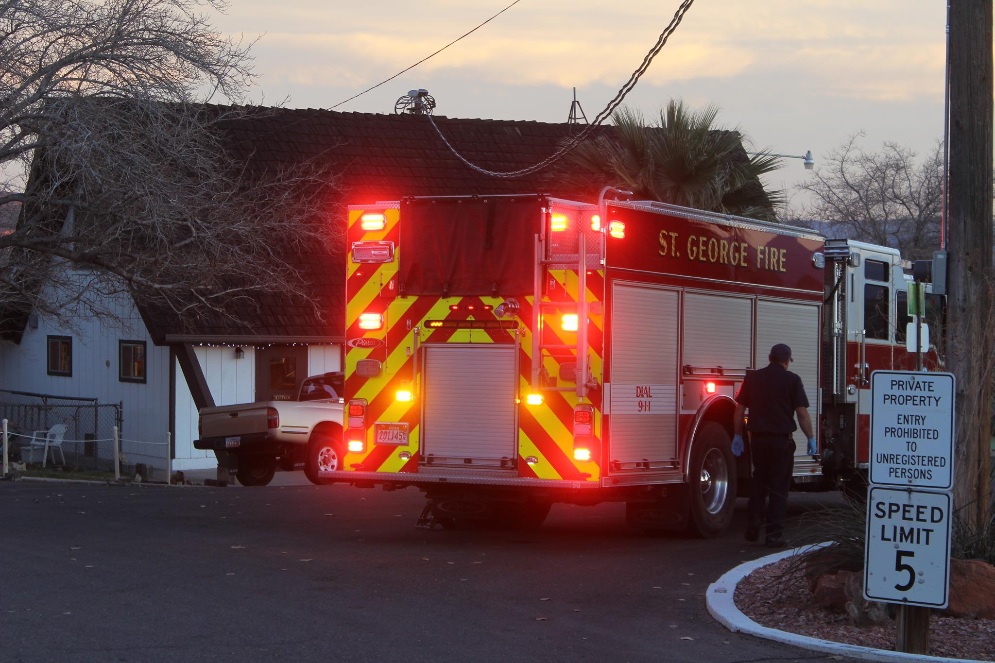 St. George Fire Department responded to an injured pedestrian in the St. George RV Park Campground St. George, Utah, Dec. 13, 2015   Photo by Don Gilman, St. George News