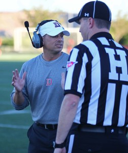 Shay McClure, Dixie State University vs. Azusa Pacific University, Football, St. George, Utah, Sept. 26, 2015,   Photo by Robert Hoppie, ASPpix.com, St. George News