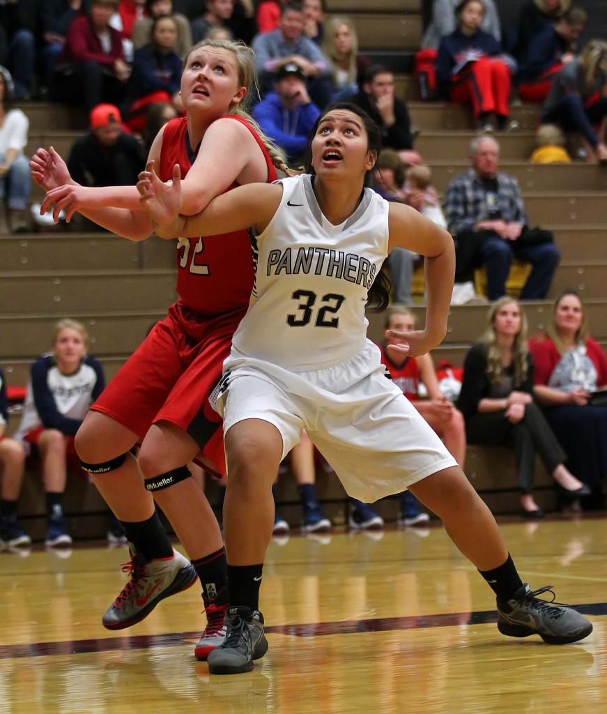 Pine View's Natasha Fiame (32), Pine View vs. Springville, Girls Basketball, St. George, Utah, Dec. 4, 2015, | Photo by Robert Hoppie, ASPpix.com, St. George News