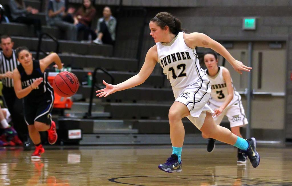 Desert Hills' Ellyn Williams (12), Desert Hills vs. Pleasant Grove, Girls Basketball, St. George, Utah, Dec. 5, 2015, | Photo by Robert Hoppie, ASPpix.com, St. George News