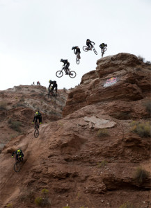 Red Bull Rampage freeride mountain bike competition, Virgin, Utah, Oct. 16, 2015   All licensed images are printed with the express permission of Red Bull Media House North America, Inc.   Photo by John Gibson, St. George News