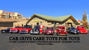 4th annual Car Guys Care event sponsoring a Show and Shine vintage car show for Toys for Tots, Ricardo's Restaurant, St. George, Utah, Dec. 6, 2014| Photo courtesy of Shane Dastrup