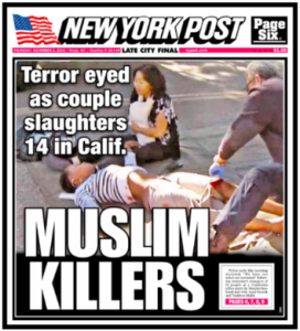 New York Post cover, Dec. 3, 2015
