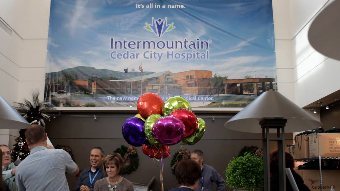 Hospital gathering celebrating change of name to Cedar City Hospital, Cedar City, Utah, Dec. 4, 2015 | Photo by Carin Miller, St. George News - Cedar City News