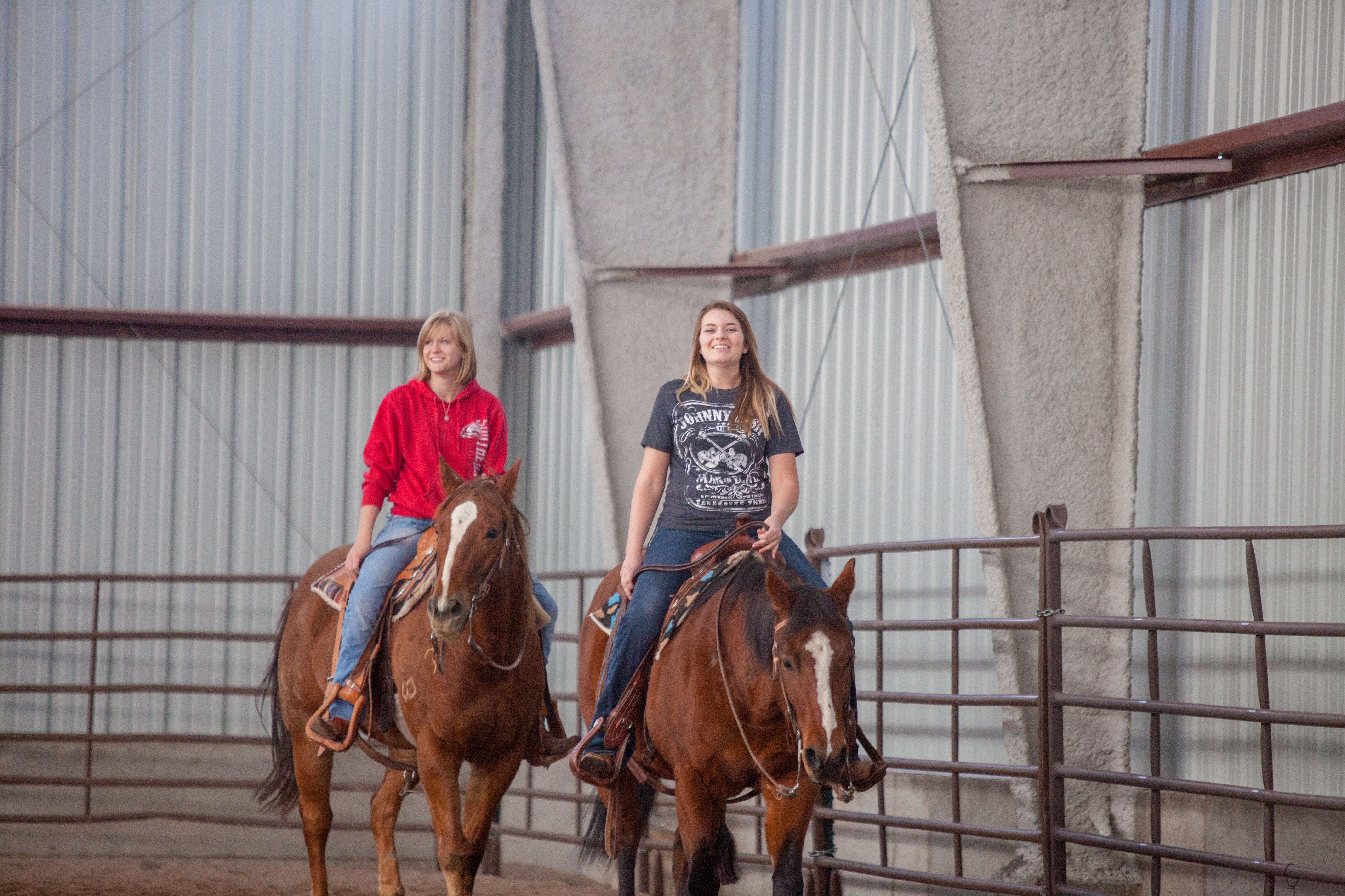 Riders at the Kenneth L. Cannon Equestrian Center, Cedar City, date unspecified | Photo courtesy of SUU, St. George News