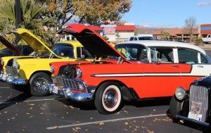 "Oldies and classic cars at Car Guys Care's Toys for Tots ""Show and Shine"" car show at Ricardo's Restaurant, St. George, Utah, Dec. 12, 2015