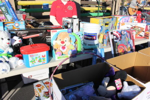 "Car Guys Care's Toys for Tots ""Show and Shine"" car show where 304 toys were donated at the event, Ricardo's Restaurant, St. George, Utah, Dec. 12, 2015