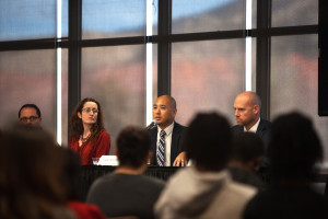 Administrators and students of Southern Utah University at a diversity forum, Cedar City, Utah, Fall 2015 | Photo courtesy of SUU, St. George News