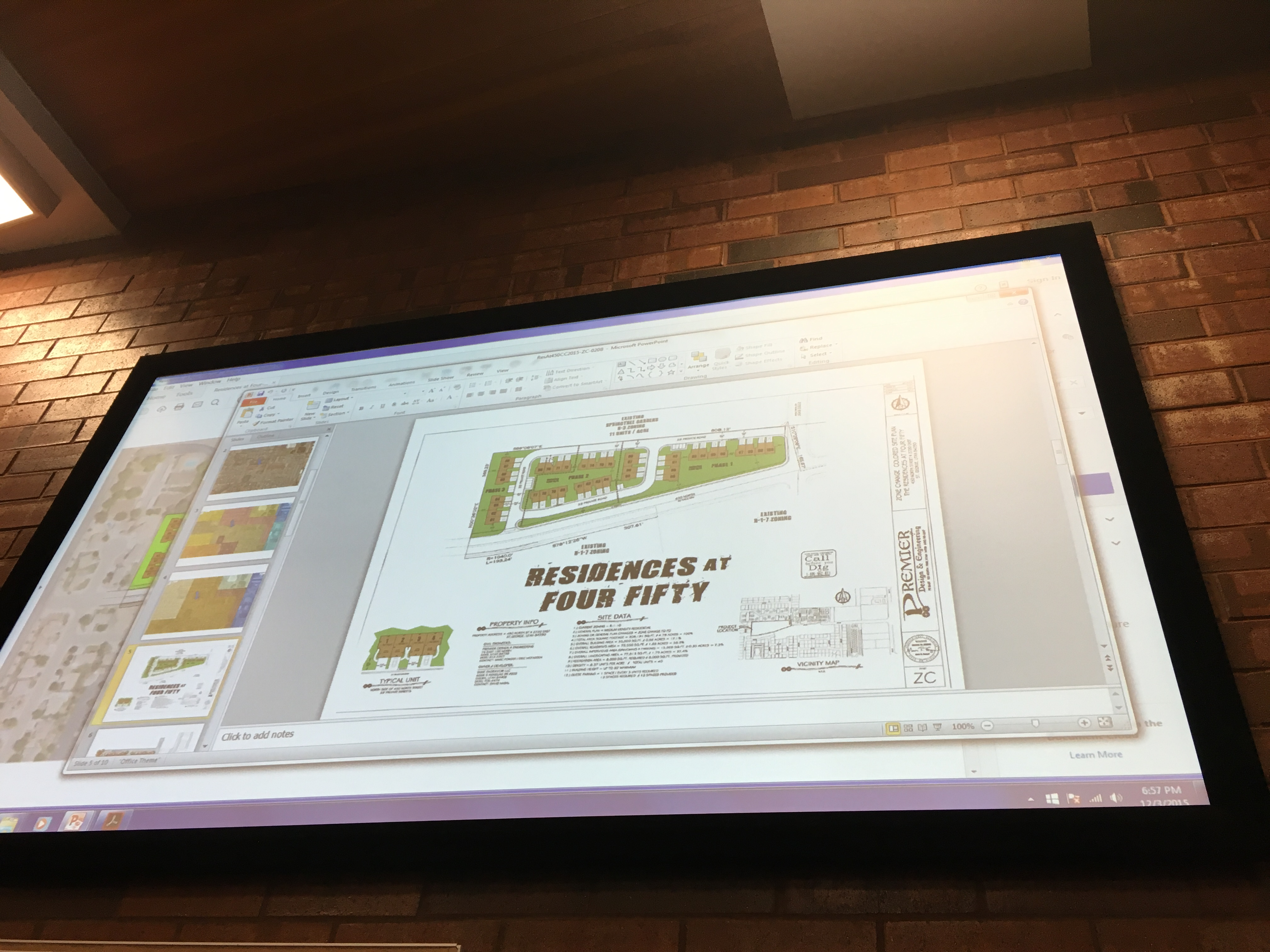 Map of town home development discussed at St. George City Council meeting, St. George, Utah, Dec. 3, 2015 | Photo by Tracie Sullivan, St. George News