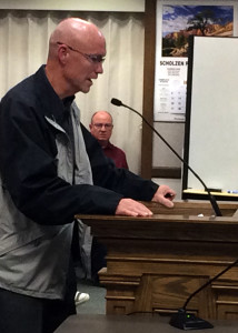 Cedar City Event Coordinator Bryan Dangerfield presents the 2016 Tour of Utah bid proposal to City Council and administrators Wednesday in Cedar City Council Chambers, Cedar City, Utah, Dec. 9, 2015 | Photo taken by Carin Miller, St. George News