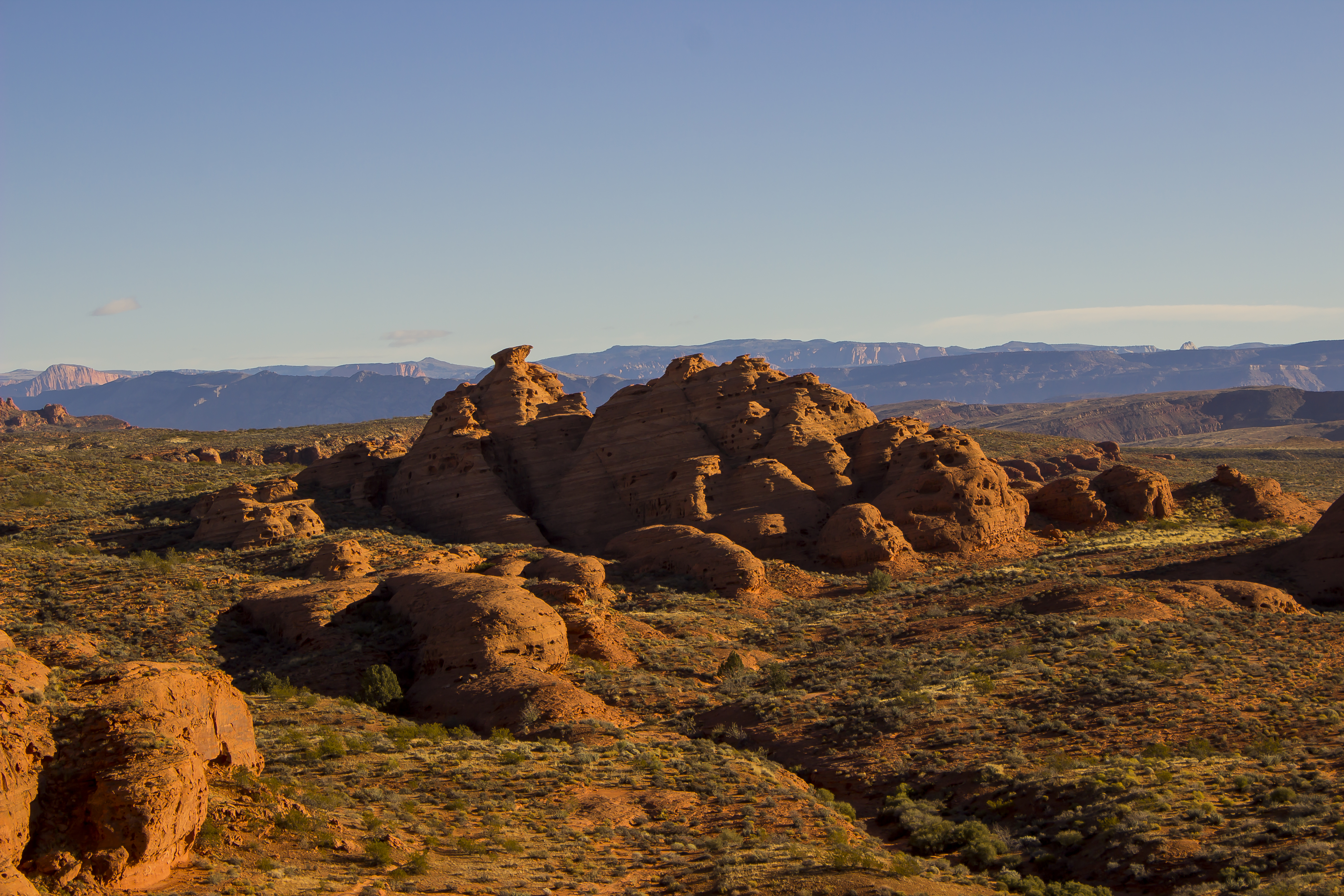 This photo shows Church Rocks in the Red Cliffs National Conservation Area, a federally-controlled land within Washington County | Photo taken Nov. 24, 2014 | Photo by Don Gilman, St. George News