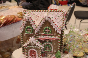 "Gingerbread House on one of the holiday tables at ""The First Christmas"" event, Hildale, Utah, Dec. 16, 2015