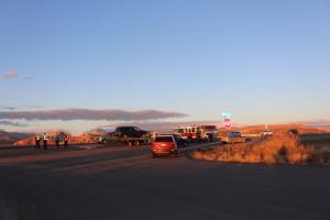 Approaching scene of head on collision 2260 W State Street, Hurricane, Utah, Dec. 24, 2015 | Photo by Cody Blowers, St. George News