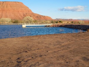 A renovations project at Ivins Reservoir is creating a separate beach and swimming area, Ivins, Utah, Dec. 23, 2015 | Photo by Julie Applegate, St. George News