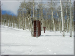 The Kolob SNOTEL station, at 9,206 ft., is measuring 45 inches of snow, and 9.7 inches of water content| Image courtesy of U.S.D.A. Natural Resources Conservation Service, St. George News