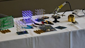 The Lux Cube maker kit by Clover Technology in Hurricane wins the grand prize in the Concept to Company Contest, St. George, Utah, Dec. 11, 2015 | Photo by Julie Applegate, St. George News