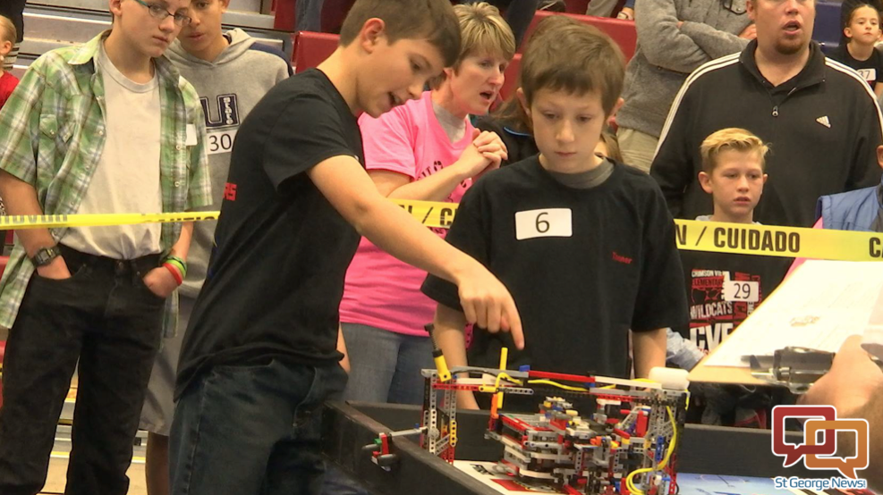 Elementary and middle school students compete in First Lego League scrimmage tournament, preparing for state championship in January. Dixie State University, St. George, Utah, Dec. 12, 2015 | Photo by Kassi Gillette