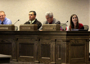 Cedar City Mayor Maile Wilson expresses her gratitude to students and City Council members in regards to the hard work employed in completing the study, Council Chambers, Cedar City, Utah, Dec. 2, 2015 | Photo by Carin Miller, St. George News