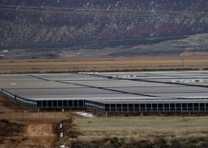 Solar fields, Utah Red Hills Renewable Park, Parowan, Utah, Dec. 10, 2015 | Photo taken by Carin Miller, St. George News