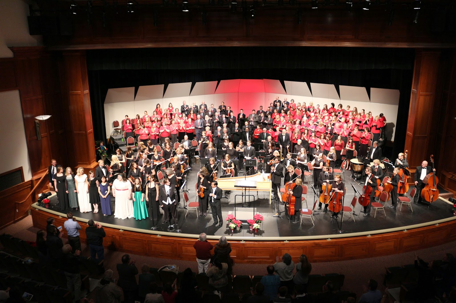 "The OSU bows at the end of their performance of Handel's ""Messiah,"" Cedar City, Utah, 2014 