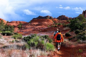 Hikers on the Petrified Sand Dunes trail in Snow Canyon State Park, Ivins, Utah, date not specified | Photo courtesy of Utah State Parks, St. George News