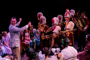 "The St. George Musical Theater cast of the ""Music Man,"" date and location not specified 