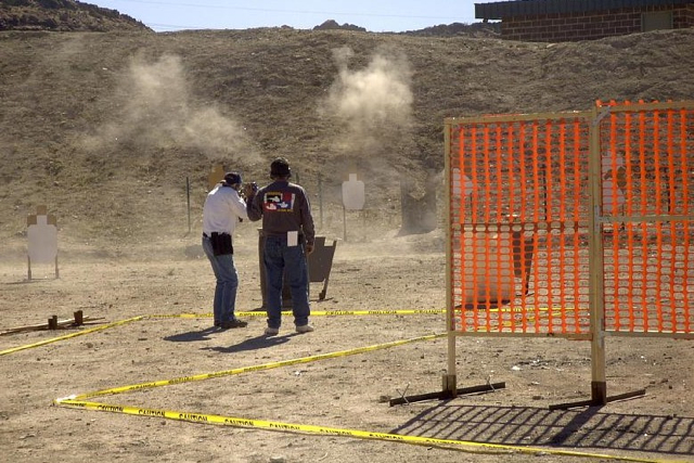 Practical shooting at the Southern Utah Shooting Sports Park, Hurricane, Utah, circa 2012 | Photo courtesy of Ken Nelson, president of the Southern Utah Pistol & Revolver Club, St. George News