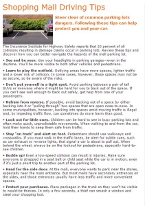Parking Lot Driving Tips from AAA in Utah, undated | Graphic courtesy of AAA, St. George News