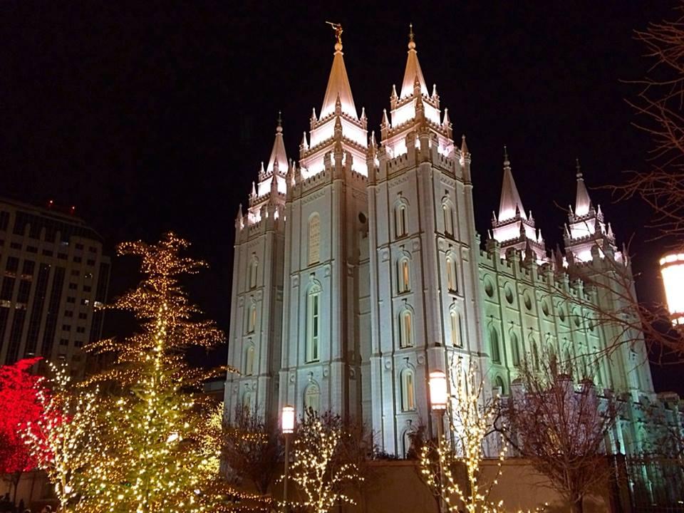 Temple Square Salt Lake City Christmas Lights.Tour Temple Square Christmas Lights From Home St George News
